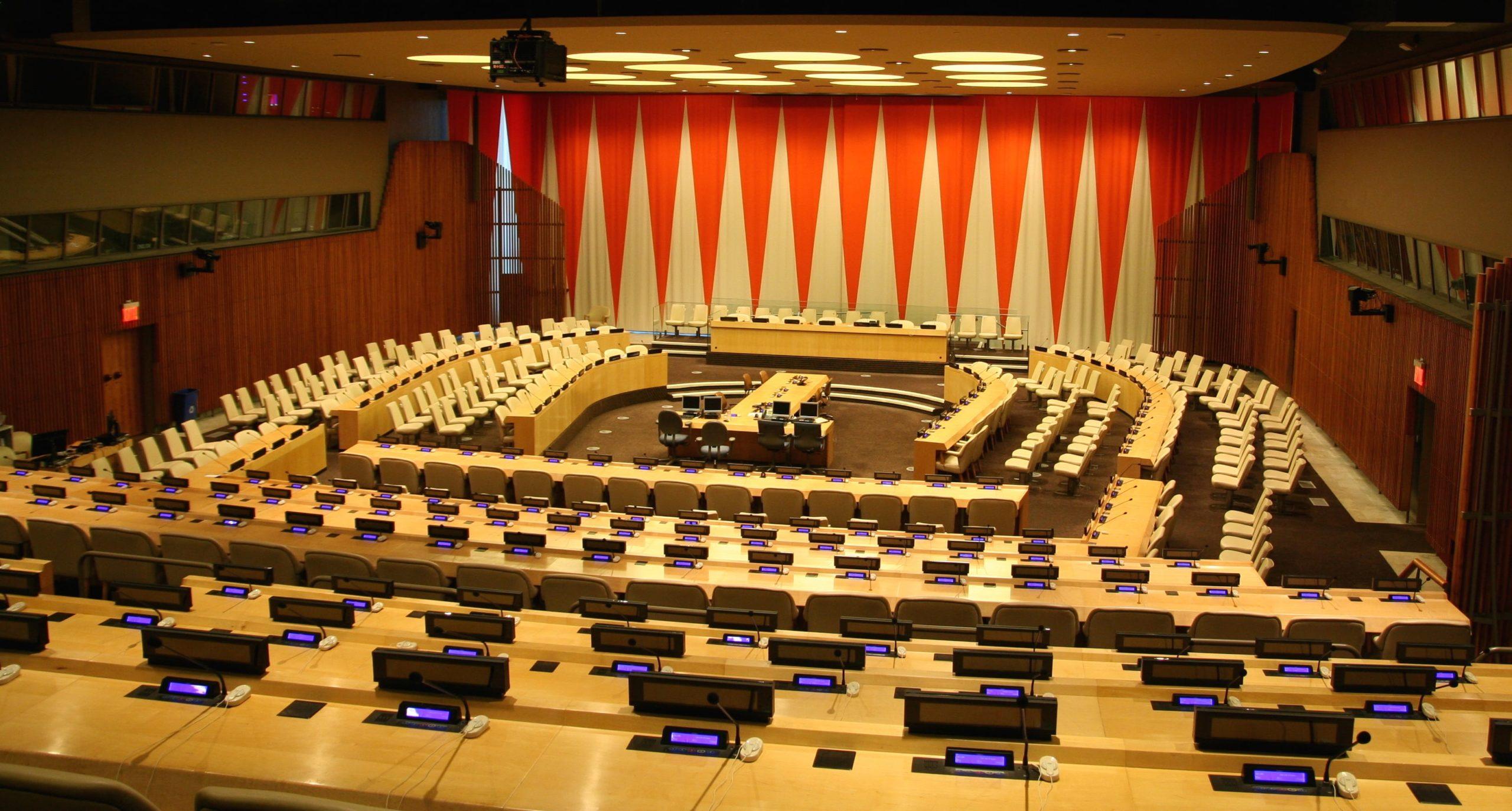 Camera delle Nazioni Unite vuota