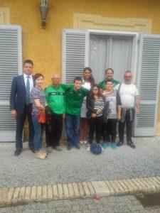 Nove persone in posa per la foto. Tra di loro ci sono il presidente Paolo Giordani e il segretario generale Valeria Rinaldi